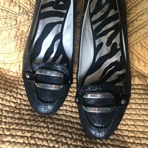 Anne Klein black loafer size 7 1/2